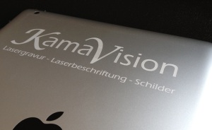 Laserbeschriftung Tablet Handy Smart Phone Kamavision