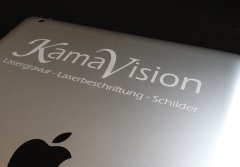 Lasergravur IPad - Tablet Laserbeschriftung Kamavision