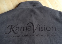 Lasergravur Stoff Fleece Laserbeschriftung