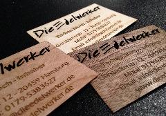 Holzvisitenkarte Laserzuschnitt Lasergravur