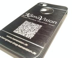 Handy Case Alu gebürstet Lasergravur Kamavision