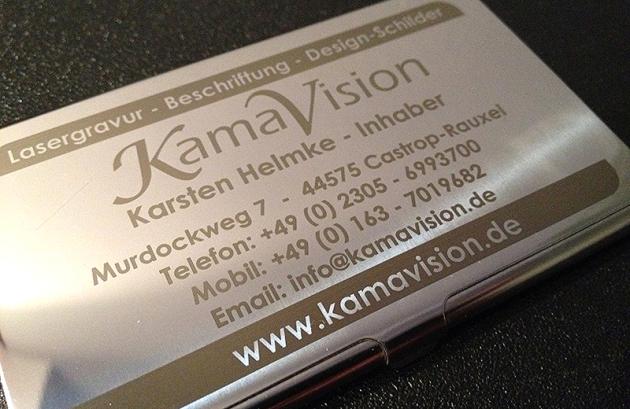 #Laserbeschriftung Metall #Visitenkarten-Etui