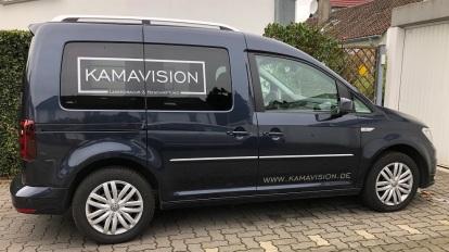 Fahrzeugbeschriftung Folienbeschriftung Kamavision Lasergravur