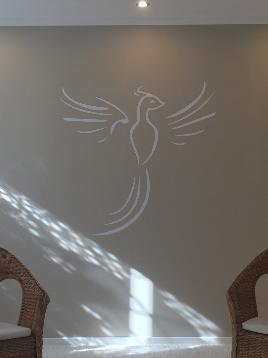 Wandtatoo Folienbeschriftung Logobeschriftung Wandbeschriftung