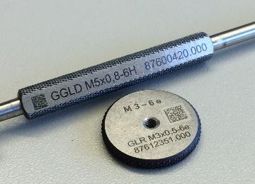 Laserbeschriftung Prüflehren DMA-Code Datamatrix-Code