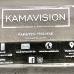 Werbemittel Glas-Visitenkarte Lasergravur www.kamavison.de